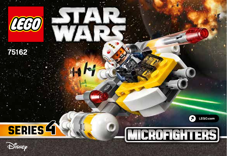инструкция Y-Wing™ Microfighter шаг 1