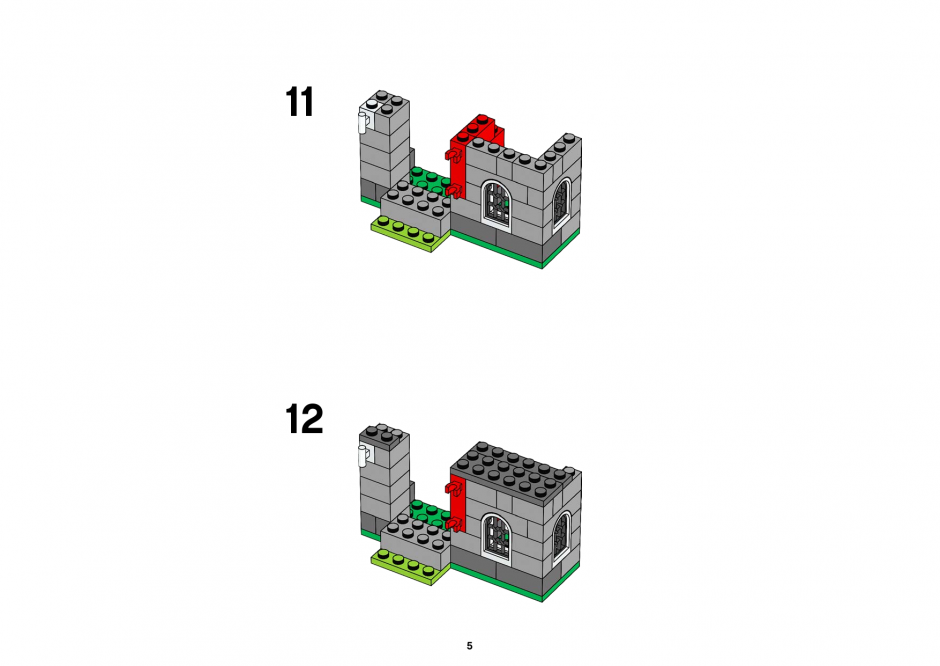 инструкция Castle Building Set шаг 4